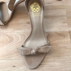 eec36f682aba Vince Camuto Shoes - Vince Camuto Camylla Sandal Tan Suede Size 6.5